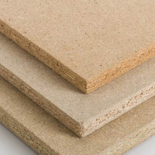 ARAUCO particleboard close-up stack