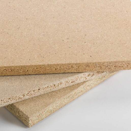 ARAUCO particleboard corner close-up